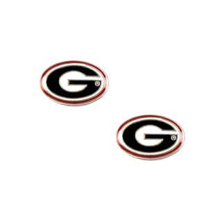 NCAA Georgia Bulldogs Post Stud Earring Charm Set