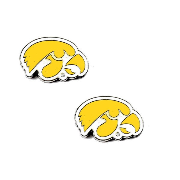 NCAA Iowa Hawkeyes Post Stud Earring Charm Set