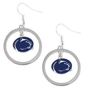 Aminco NCAA Penn State Nittany Lions Metal Hoop Logo Earring Charm Set