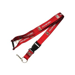 NCAA Stanford Cardinals Clip Red Lanyard Keychain Id Ticket Holder