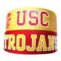 NCAA USC Trojans Slap Snap Wrap Wrist Band (Set of 2)