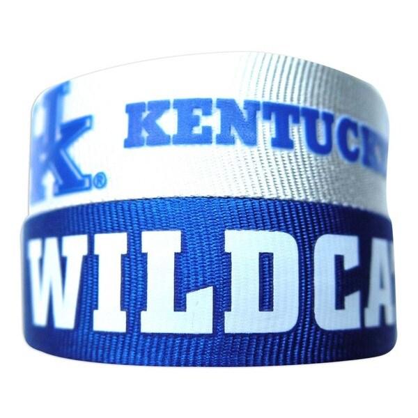 NCAA Kentucky Wildcats Slap Snap Wrap Wrist Band (Set of 2)