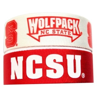 Aminco NCAA North Carolina State Wolfpack Slap Snap Wrap Wrist Bands (Set of 2)