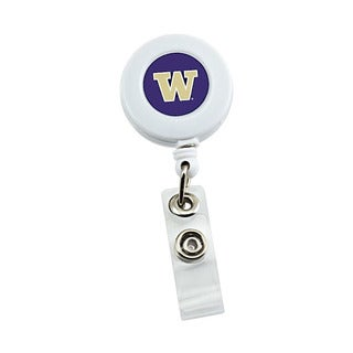Aminco NCAA Washington Huskies Retractable Badge Reel with ID Ticket Clip