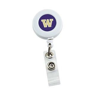 Aminco NCAA Washington Huskies Retractable Badge Reel with ID Ticket Clip