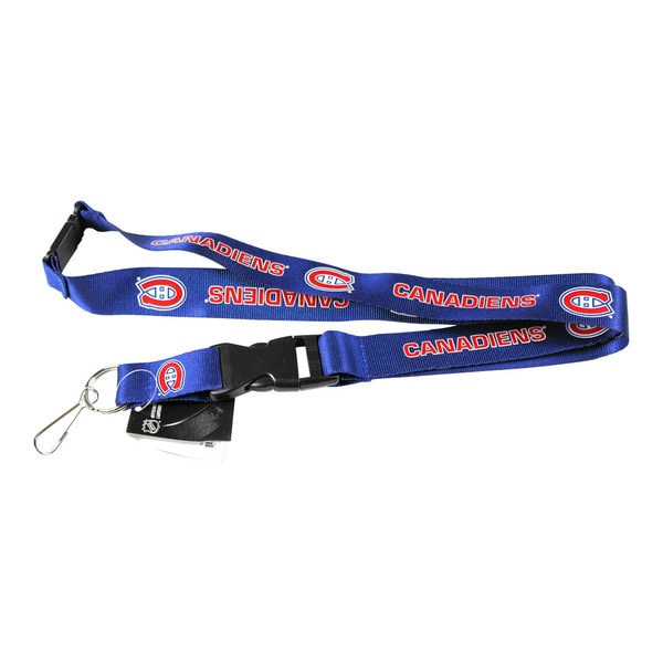 NHL Montreal Canadiens Clip Blue Lanyard Keychain Id Ticket Holder