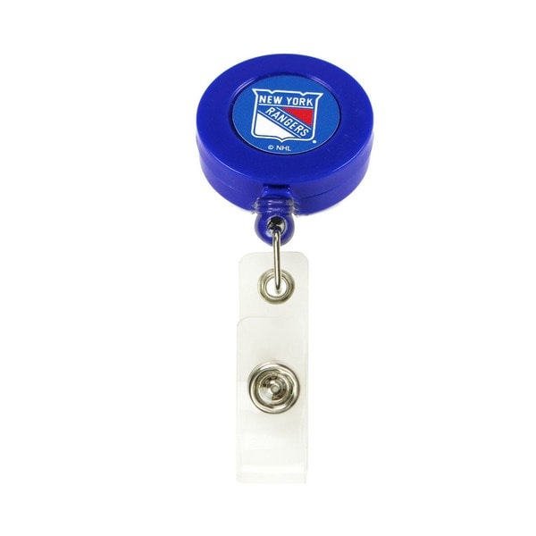 NHL New York Rangers Retractable Badge Reel ID Ticket Clip