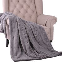 BOON Super Soft Kasaya Jacquard FauxFur Throw w/ Gift Packaging