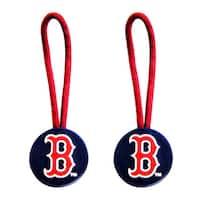 MLB Boston Red Sox Zipper Pull Charm Luggage Pet ID Tag Set