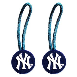 MLB New York Yankees Zipper Pull Charm Tag Set Luggage Pet ID