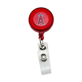 MLB LOS Angeles Angels Retractable Badge Reel Id Ticket Clip