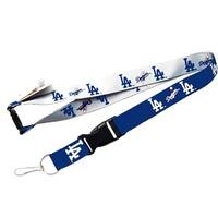 MLB LOS Angeles Dodgers Reversible Clip Lanyard Keychain Id Ticket Holder
