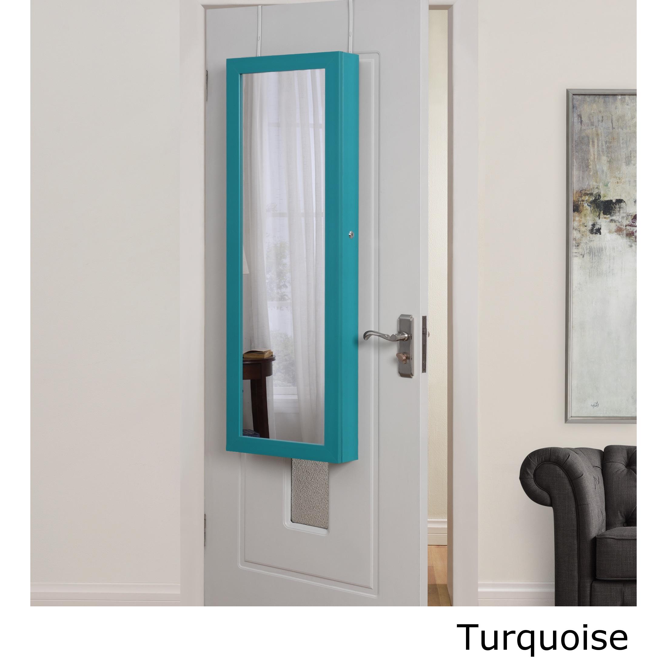 Halle Over the Door Hanging Jewelry Armoire (Blue)