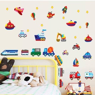 Transportation Themed Childrens Wall Stickers