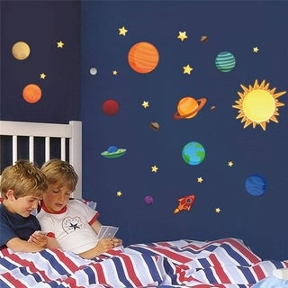 Solar System Planets Earth Wall Stickers