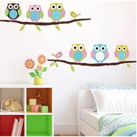 Colorful Owls Wall Sticker Decal