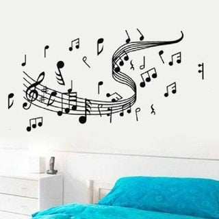 Musical Notes Staff Wall Sticker