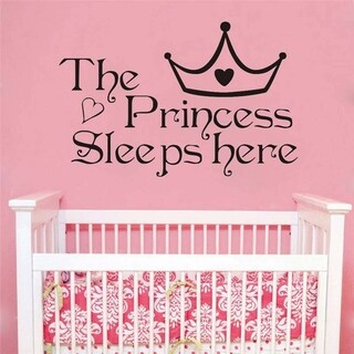 Inspirational Wall Sticker The Princess Sleeps Here