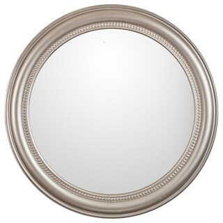 Camille Round Champagne Framed Wall Mirror