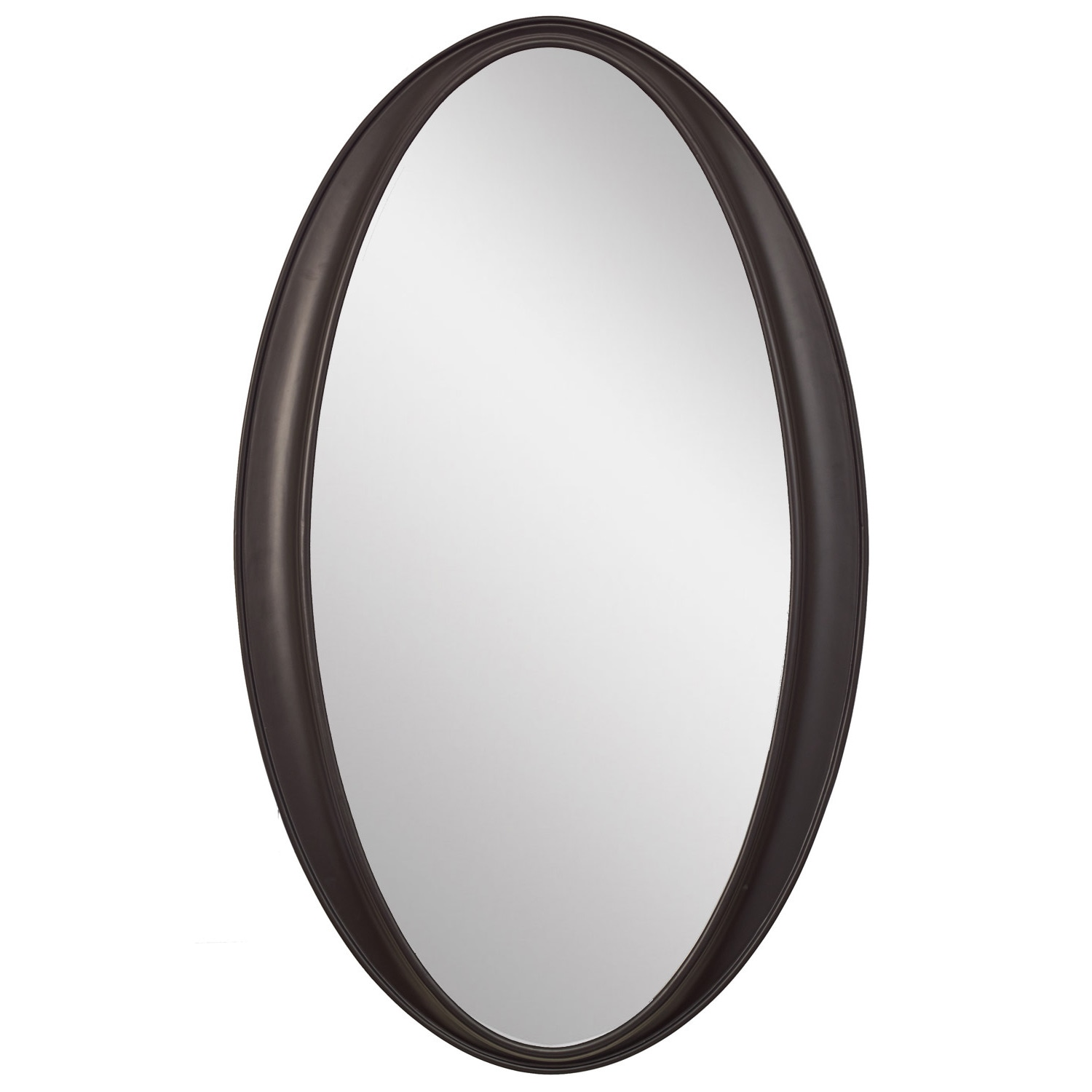 Classic Wall Mirror Beveled Glass Hanging Oval Plastic Frame Black ...