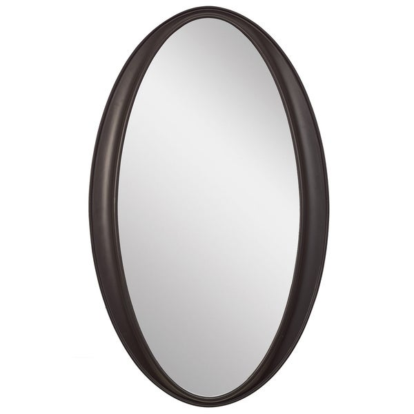 Shop Laurn Oval Black Framed Wall Mirror - Free Shipping Today ...