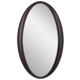 Laurn Oval Black Framed Wall Mirror