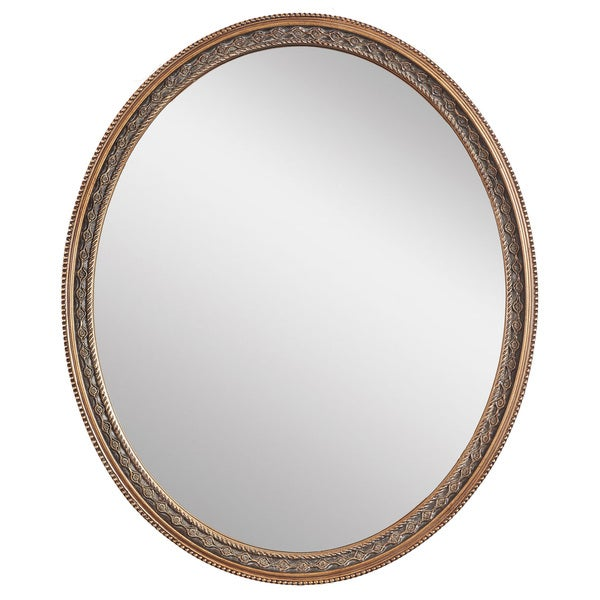 Shop Claire Oval Weathered Gold Framed Wall Mirror Free