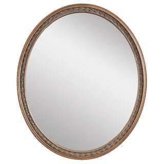 Claire Oval Weathered Gold Framed Wall Mirror