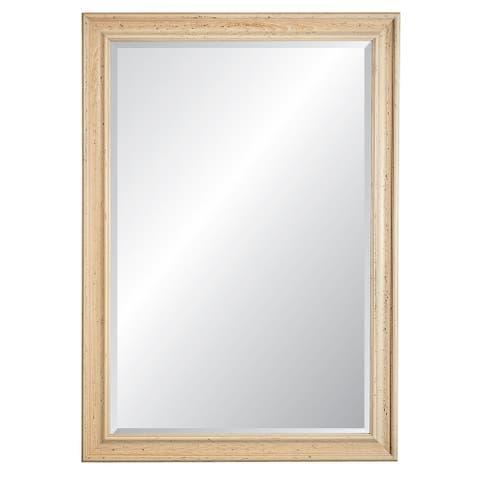 Charleston Cream Framed Wall Mirror