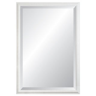 Savanah Brushed White Framed Wall Mirror