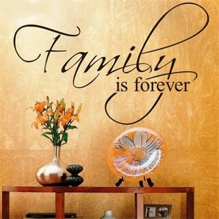"Inspirational Wall Quote Family is Forever Wall Sticker 12"" x 18"""