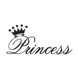 Girls Room Princess Crown Vinyl Wall Art Decal Free