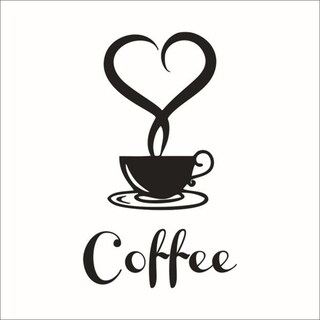 "Coffee Wall Sticker 5"" x 8"""