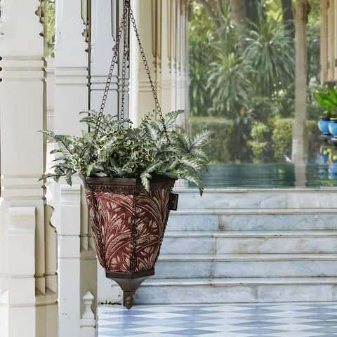 Bombay Outdoors Antique Black Naya Hanging Zanzibar Berry Fabric Planter