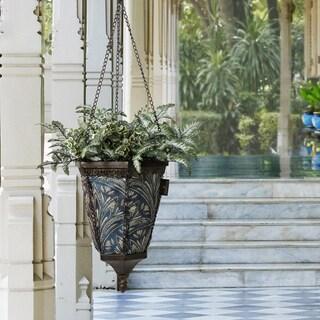 Bombay Outdoors Antique Black Naya Hanging Royal Zanzibar Fabric Planter