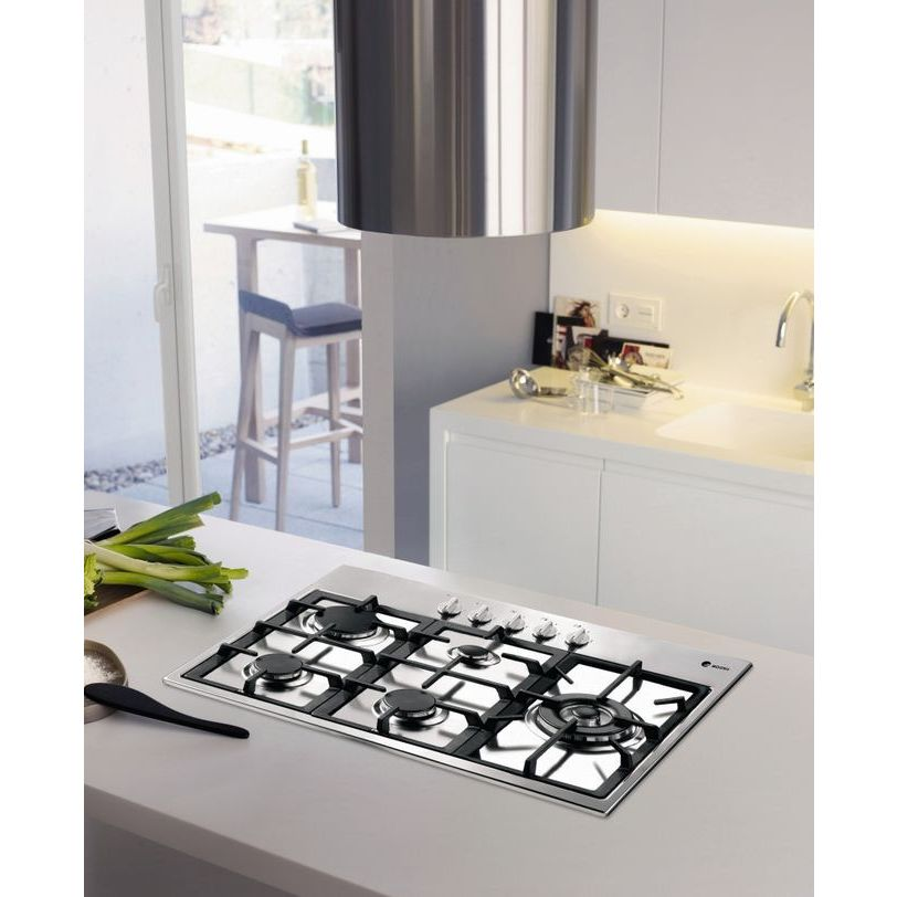"""Fagor America 34"""" Gas Cooktop (34"""", Stainless Steel), Silver"""