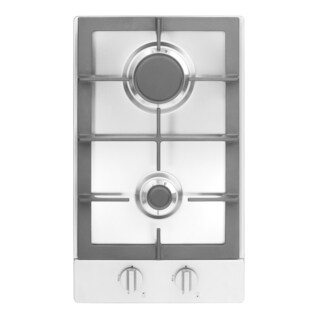 Fagor America 12-inch Stainless Steel Universal Ignition 2-burner Gas Cooktop