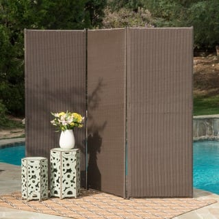 Netherlands Outdoor Wicker Privacy Screen by Christopher Knight Home