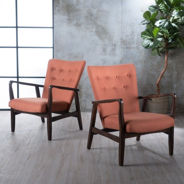 Leahlyn Reddish Brown Arm Chair Set Of 2: Shop Becker Fabric Arm Chair (Set Of 2) By Christopher