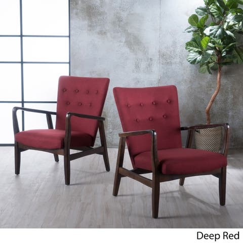 Becker Fabric Arm Chair (Set of 2) by Christopher Knight Home