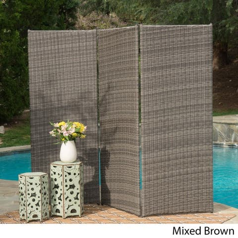 Netherlands Outdoor Aluminum Wicker Privacy Screen by Christopher Knight Home
