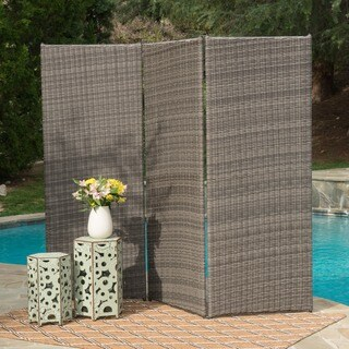 Netherlands Outdoor Aluminum Wicker Privacy Screen by Christopher Knight Home (2 options available)