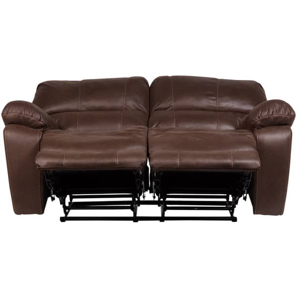 Awesome Shop Porter Ramsey Brown Embossed Microfiber Dual Reclining Bralicious Painted Fabric Chair Ideas Braliciousco