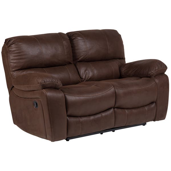 Excellent Shop Porter Ramsey Brown Embossed Microfiber Dual Reclining Bralicious Painted Fabric Chair Ideas Braliciousco