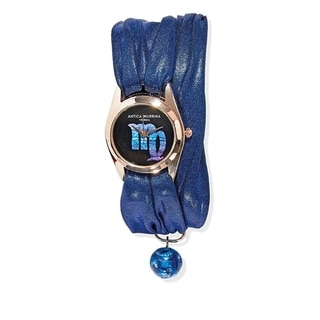 Antica Murrina Zodiaco Collection Blue Strap Black Dial Women's Watch