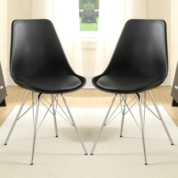 Mid-century Modern Artistic Design Dining Chairs (Set of 2)