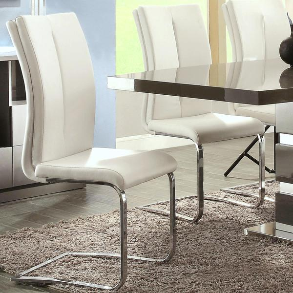 Modern Italian Design Cream-White Upholstered Dining Chairs (Set of 2) & Shop Modern Italian Design Cream-White Upholstered Dining Chairs ...