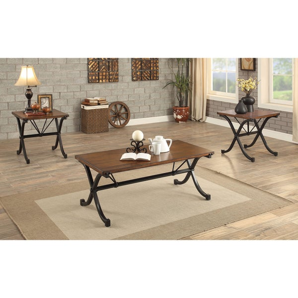 Shop Furniture Of America Kesha Industrial 3-piece Dark