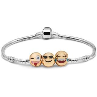 Etcbuys Emoji 3-Charm Bracelets