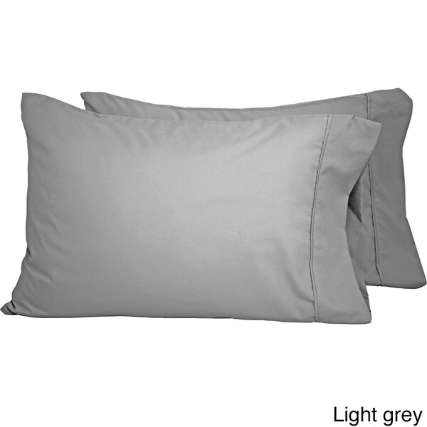 King Pillowcase Set of 2, Black Double Brushed Wrinkle Resistant Hypoallergenic Bare Home Premium 1800 Ultra-Soft Microfiber Pillowcase Set